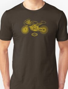 Retro Café Racer Bike - Gold Unisex T-Shirt