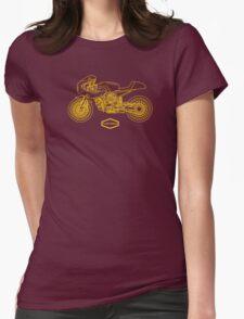 Retro Café Racer Bike - Gold Womens Fitted T-Shirt