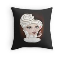 Creaminal Treats - Ms. White Throw Pillow