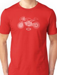 Retro Café Racer Bike - White Unisex T-Shirt
