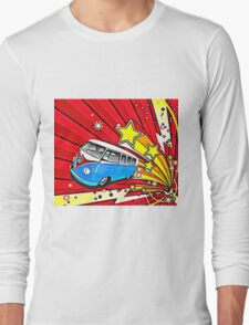 Starburst Split screen Cartoon Long Sleeve T-Shirt