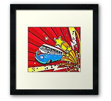 Starburst Split screen Cartoon Framed Print