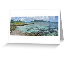Panorama of Huahine island French polynesia Greeting Card