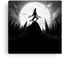 Drawlloween 2013: Werewolf Canvas Print