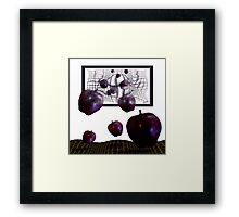 Drawing from apples Framed Print