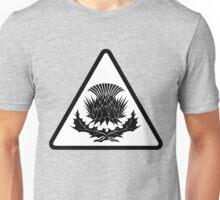 Black Thistle Triangle Unisex T-Shirt