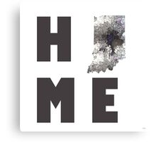 """Indiana """"HOME"""" Canvas Print"""