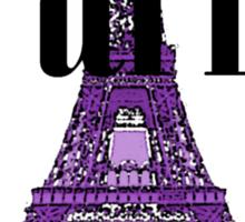 Paris, France - Eiffel Tower (Throw Pillow) Sticker