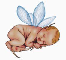 Sleeping Baby Fairy Sticker by ChePanArt