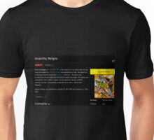 The Wikia Page For Anarchy Reigns Unisex T-Shirt