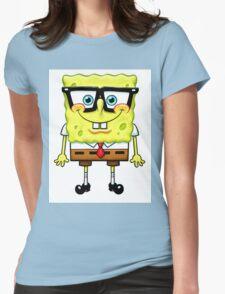 Spongebob Nerd Womens Fitted T-Shirt
