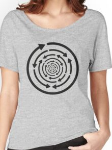 Any Which Way But Out - Black Women's Relaxed Fit T-Shirt