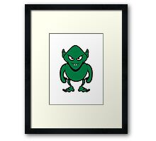 Monster evil funny vampire Halloween Framed Print