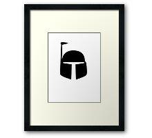 Boba Fett - Black Framed Print
