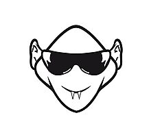 Evil halloween Monster vampire sunglasses Photographic Print