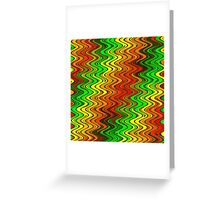 WAVY-2 (Reds, Oranges, Yellows & Greens)-(9000 x 9000 px) Greeting Card