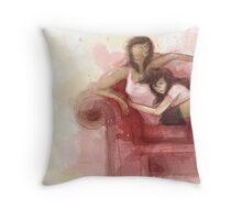 Korra and asami Throw Pillow