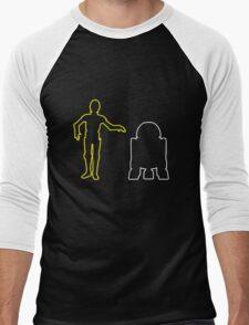 C-3PO And R2-D2 Men's Baseball ¾ T-Shirt