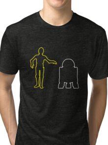 C-3PO And R2-D2 Tri-blend T-Shirt