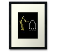 C-3PO And R2-D2 Framed Print