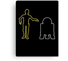 C-3PO And R2-D2 Canvas Print