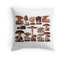 Edible Funghi (1893) Throw Pillow