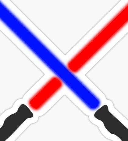 Lightsaber Battle Sticker
