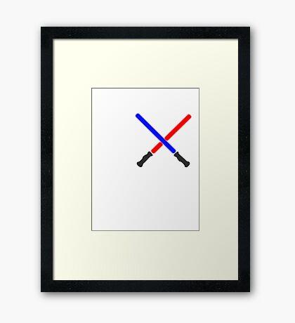 Lightsaber Battle Framed Print