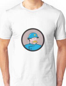 New York Policeman Vintage Circle Cartoon Unisex T-Shirt