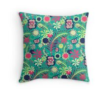 Tropical Flower Fiesta Throw Pillow