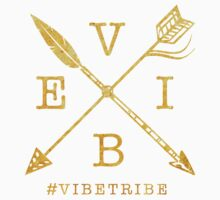 VIBE Feather Arrow Cross GOLD Baby Tee