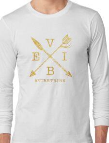VIBE Feather Arrow Cross GOLD Long Sleeve T-Shirt