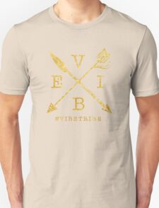 VIBE Feather Arrow Cross GOLD Unisex T-Shirt