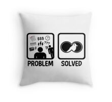 Funny Bird Watching Problem Solved Throw Pillow