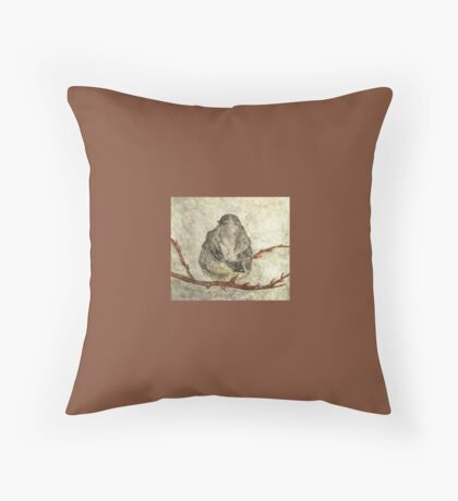 A Wintry Mix Throw Pillow