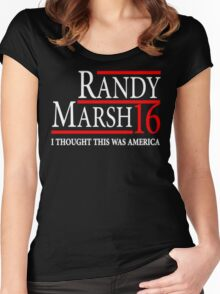 RANDY MARSH 16 - I THOUGHT THIS WAS AMERICA! Women's Fitted Scoop T-Shirt