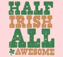 HALF IRISH all awesome distressed Kids Clothes