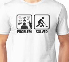 Funny Problem Solved Curling Unisex T-Shirt