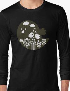 Birds and grass Long Sleeve T-Shirt