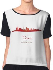 Vilnius skyline in red Chiffon Top