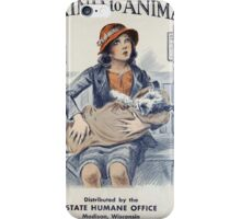 Be Kind To Animals (1934) iPhone Case/Skin