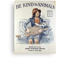Be Kind To Animals (1934) Canvas Print