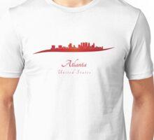 Atlanta skyline in red Unisex T-Shirt