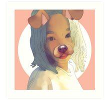 Taeyeon Dog Filter Drawing Art Print