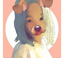 Taeyeon Dog Filter Drawing Photographic Print