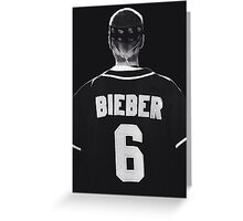 Justin Bieber Jersey Greeting Card