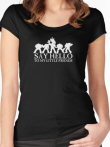 Say Hello to my Little Friends - White Women's Fitted Scoop T-Shirt