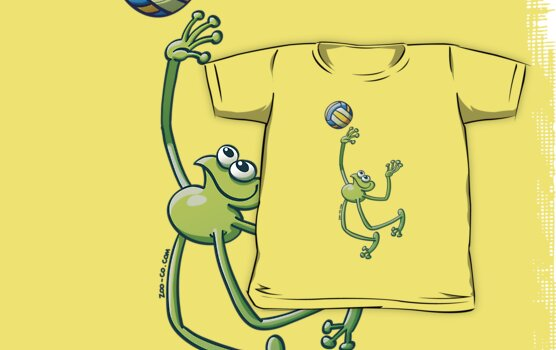 Olympic Volleyball Frog by Zoo-co