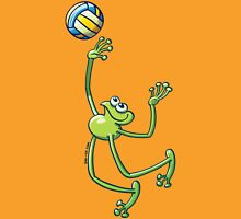 Olympic Volleyball Frog Womens Fitted T-Shirt