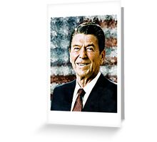 The Great President Ronald Reagan Greeting Card